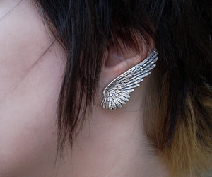 earing, wing, and fashion image