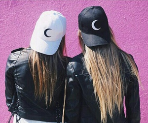 black, girls, and caps image