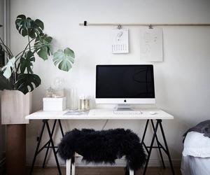interior, home, and desk image