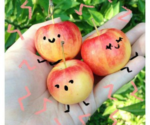 apple, cute, and fruit image