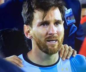 messi, sad, and lionel messi image