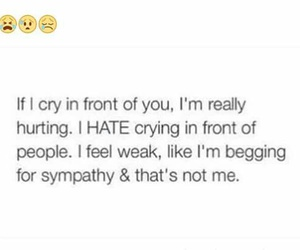 cry, hurt, and quote image