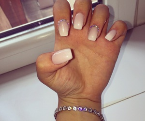 girl, nails, and pink image