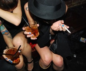 drinks, hat, and party image