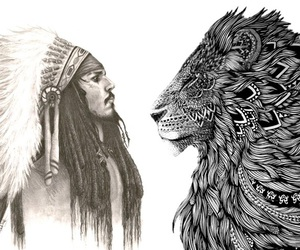 johnny depp and lion image