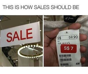 funny, lol, and sale image