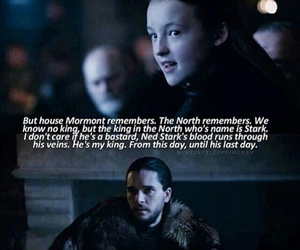 game of thrones, house mormont, and lyanna mormont image