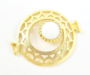 circle, fretwork, and gold connector image