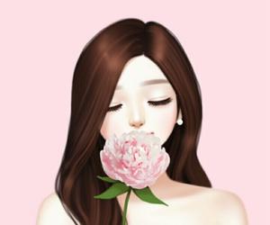 art, art girl, and background image