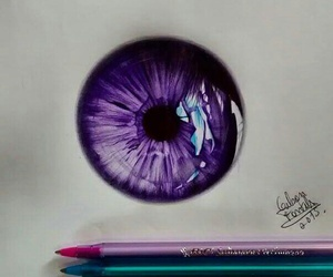art, eye, and purple image
