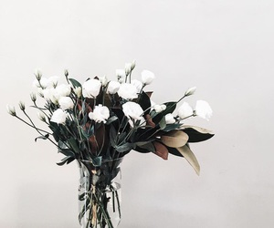 flowers, simple, and vase image