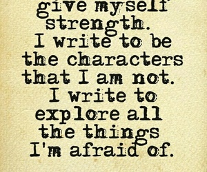 quotes, writing, and strength image