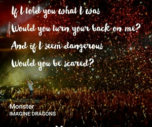 Lyrics, monster, and music image