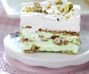 cake, pistachio, and cream image