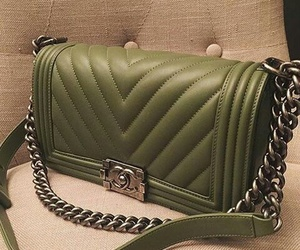 bag, military, and olive green image