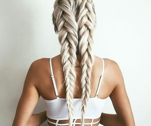 braids, coulor, and shirt image