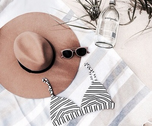 summer, hat, and beach image
