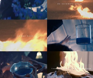 blue, fire, and honey image