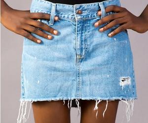 fashion and demin skirt image
