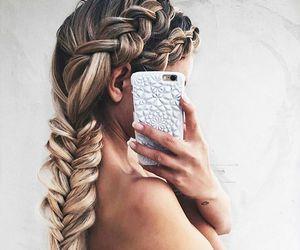 braid, hair, and hair style image