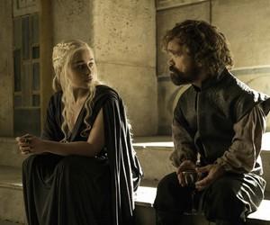 game of thrones, daenerys targaryen, and tyrion lannister image