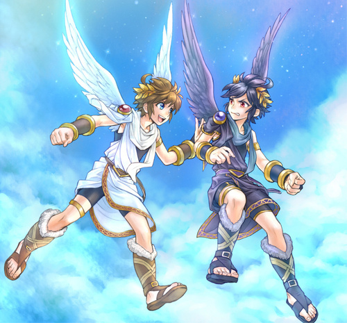 pit, kid icarus, and dark pit image