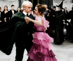 dramione, draco malfoy, and harry potter image