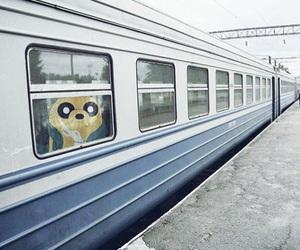 real life, train, and adventure time image