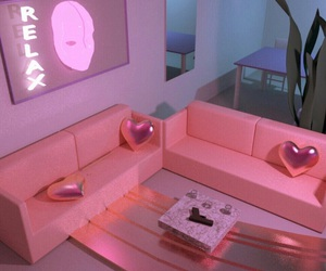 pink, room, and aesthetic image