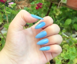 blue, stiletto, and green image