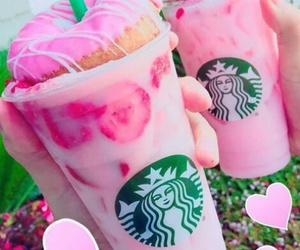 cup, starbucks, and donuts image