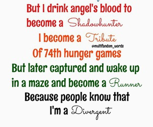 divergent, percy jackson, and runner image