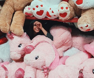 gorgeous, models, and stuffed animals image