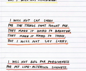 poem, writing, and not sorry image