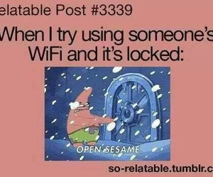 funny, wifi, and patrick image