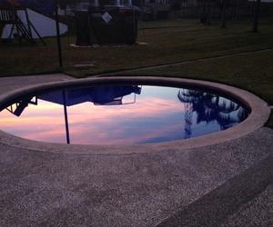 sky, pool, and sunset image