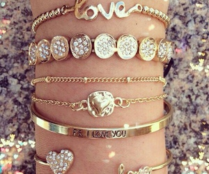 fashion, bracelet, and diamond image