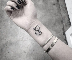 tattoo, fox, and tatoo image