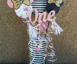 minnie mouse, pink, and baby girl image