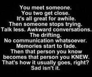 sad, quote, and true image