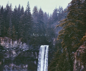 mountains and waterfall image