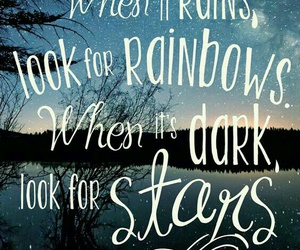 quote, star, and rainbow image