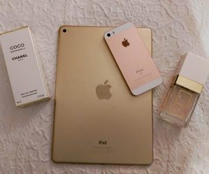 apple, chanel, and gold image