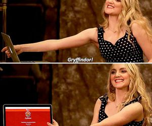 evanna lynch, gryffindor, and harry potter image