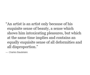 beauty, Charles Baudelaire, and quote image