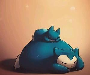 pokemon, snorlax, and apple image