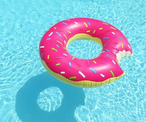 summer, donuts, and pink image