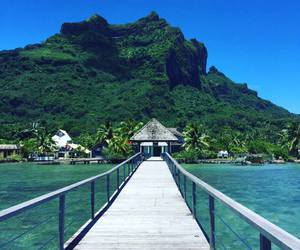 Aloha, hello, and bora bora image