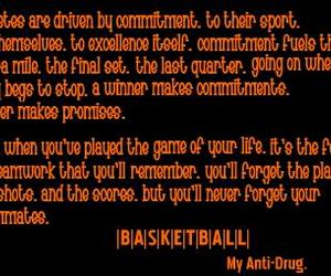 Basketball, quotes, and commitment image
