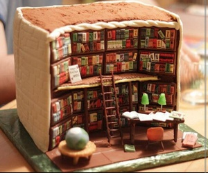 cake, book, and food image